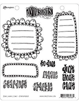 "Dyan Reaveley's Dylusions Cling Stamp Collections 8.5""X7"", Don't, Won', Can't"
