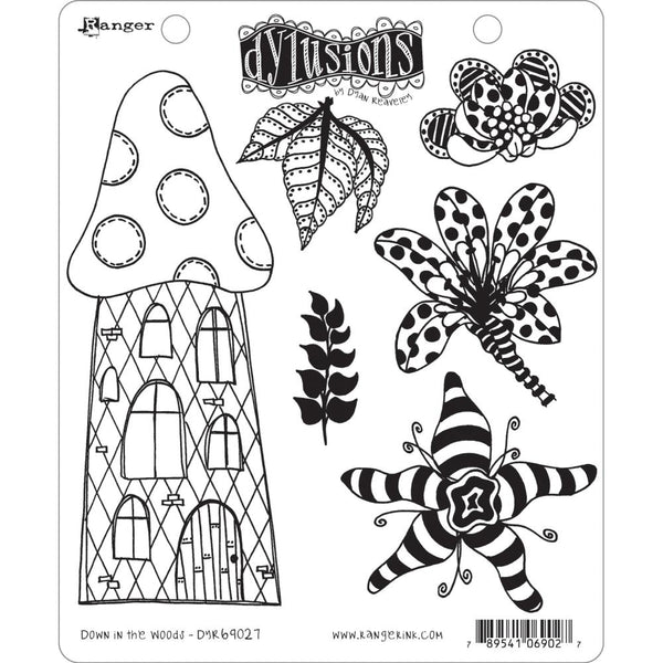 "Dyan Reaveley's Dylusions Cling Stamp Collections 8.5""X7"", Down In The Woods"