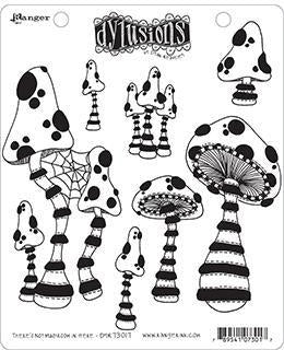 "Dyan Reaveley's Dylusions Cling Stamp Collections 8.5""X7"", There's No Mushroom In Here!"