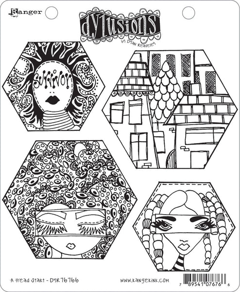 "Dyan Reaveley's Dylusions Cling Stamp Collections 8.5""X7"", A Head Start"