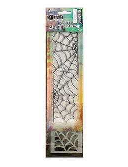 "Dyan Reaveley's Dylusions Clear Stamp & Stencil Set 12"" , Cobweb"