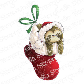 Stamping Bella Cling Stamps, Sloth In a Stocking