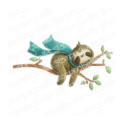 Stamping Bella Cling Stamps, Sloth On A Branch