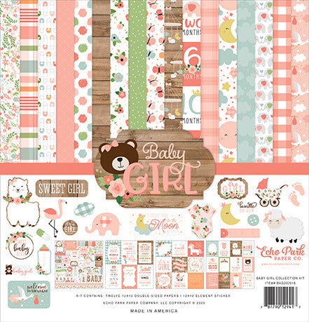"Echo Park Collection Kit 12""X12"", Baby Girl"