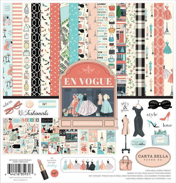 "Carta Bella Collection Kit 12""X12"", En Vogue"