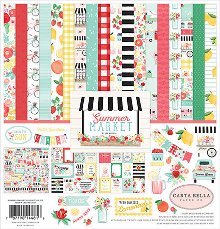 "Carta Bella Collection Kit 12""X12"", Summer Market"