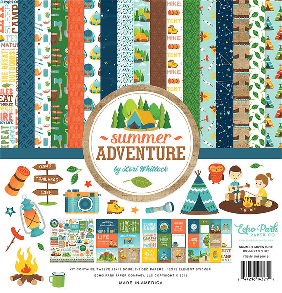 "Echo Park Collection Kit 12""X12"", Summer Adventure"