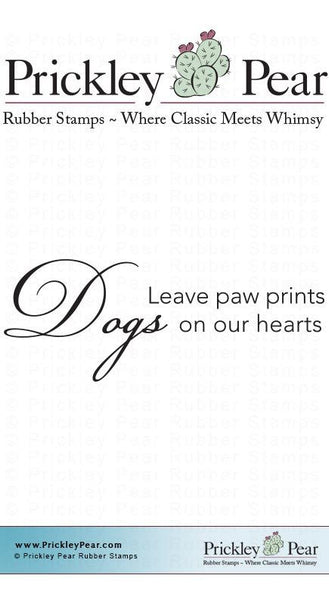 Prickley Pear, Dogs Leave Paw Prints - Red Rubber Stamp