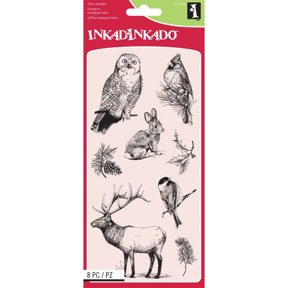 Inkadinkado, Winter Wildlife, Clear Stamps