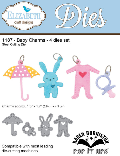 Elizabeth Craft Designs, Baby Charms, Thinlits Dies - Scrapbooking Fairies