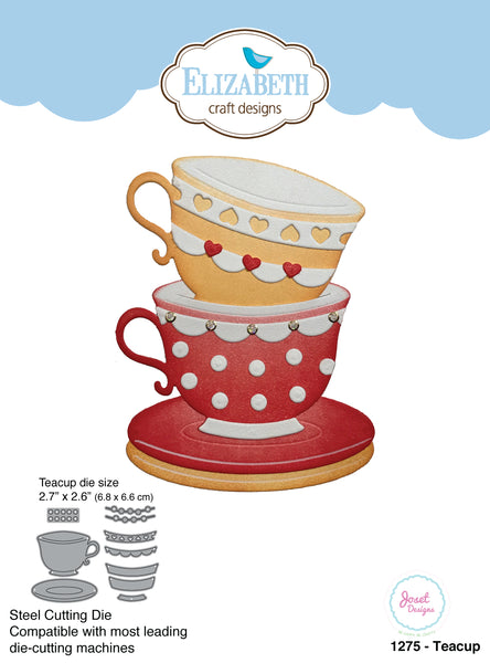 Elizabeth Craft Designs, Teacup, Dies - Scrapbooking Fairies