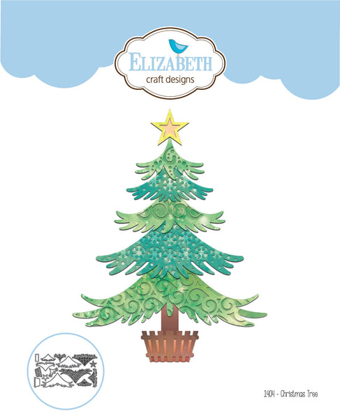 Elizabeth Craft Designs, Metal Die, Christmas Tree - Scrapbooking Fairies