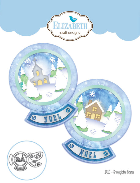 Elizabeth Craft Designs, Snowglobe Scene Thinlits Dies - Scrapbooking Fairies