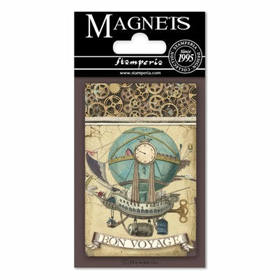 "Stamperia Magnet 2.25""X3.25"", Balloon, Fantastic Voyages"
