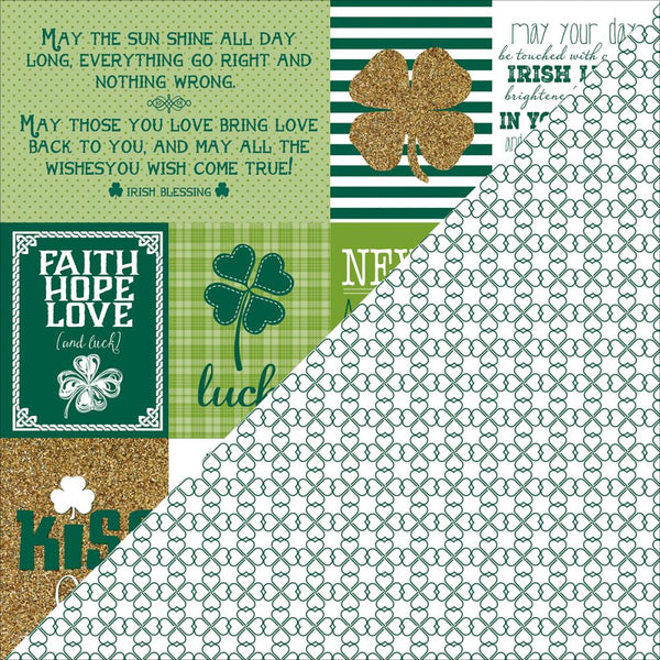 Authentique, Emerald Collection 12X12 Patterned Paper, Emerald Six