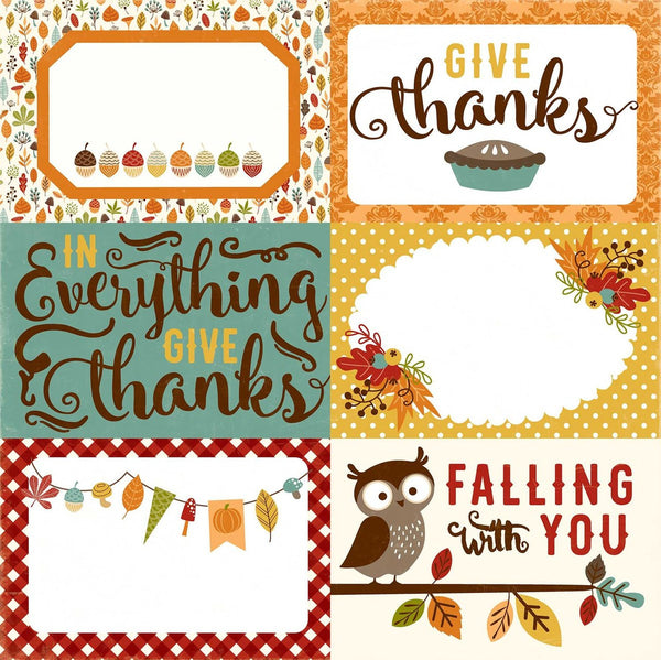 Fall is in the Air, 4x6 Journaling Cards - Scrapbooking Fairies