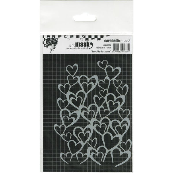 Carabelle Studio Mask A6, Flight of Hearts - Scrapbooking Fairies