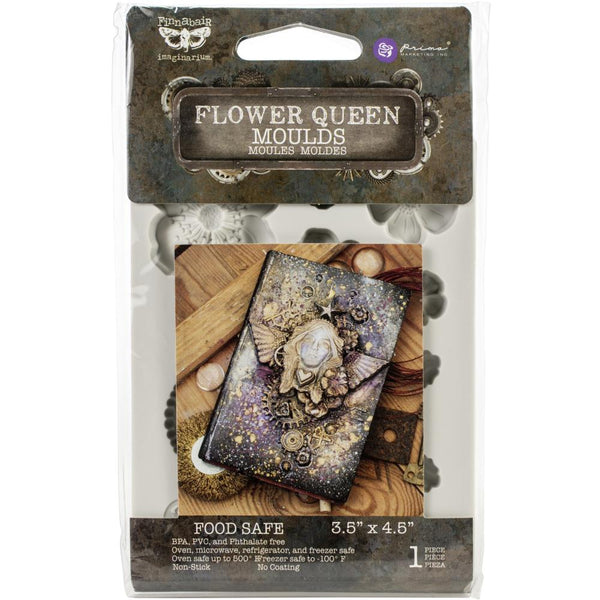 "Finnabair Decor Moulds 3.5""x4.5"", Flower Queen"