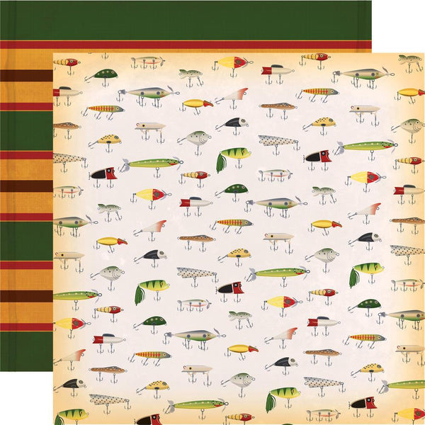 "Gone Camping, Double-Sided Cardstock 12""X12"", Fly Fishing"