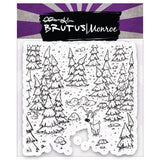 "Brutus Monroe, Clear Stamps 5.75""X5.75"" Forest Background"