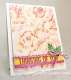 Impression Obsession,  Cover-a-Card, Layered Roses Background, Rubber Stamp