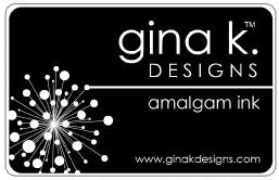 Gina K. Designs, Amalgam Ink,  Jet Black, Full Size Ink Pad