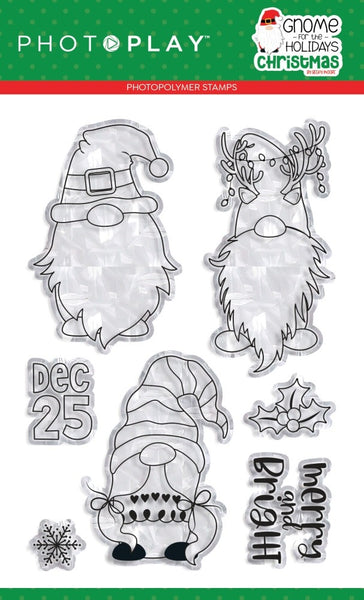 PhotoPlay Photopolymer Stamp, Gnome for the Holidays: Christmas