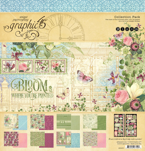 "Graphic 45 Collection Pack 12""X12"", Bloom"