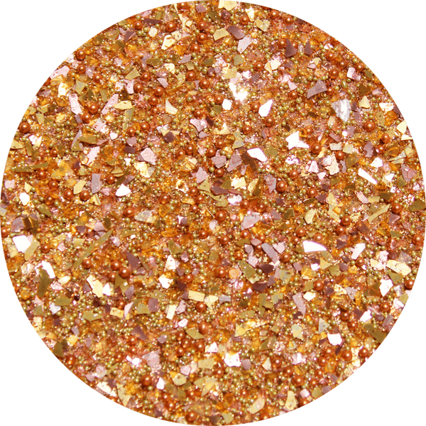 Art Glitter, Orange, Glitter, 1/4 oz. Jar - Scrapbooking Fairies