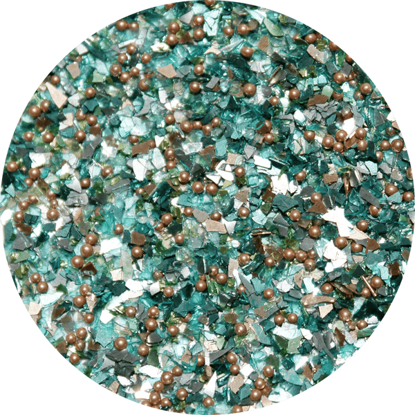 Art Glitter, Teal, Glitter, 1/4 oz. Jar - Scrapbooking Fairies
