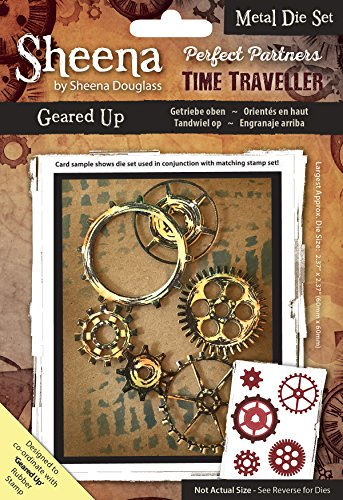 Crafter's Companion, Sheena Douglass Perfect Partners Time Traveler Metal Die Set, Geared Up