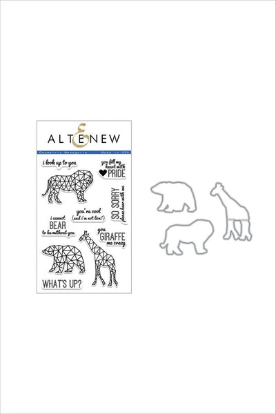 Altenew, Geometric Menagerie Stamp & Die Bundle - Scrapbooking Fairies