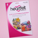 "Heartfelt Creations, 4 1/4"" x 5 1/2"" Foldout Cards-Kraft - Scrapbooking Fairies"