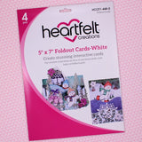 "Heartfelt Creations, 5""x 7"" Foldout Cards-White"