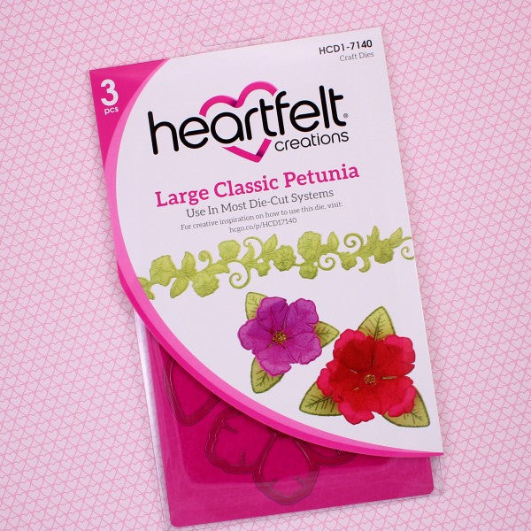 Heartfelt Creations, Large Classic Petunia Die - Scrapbooking Fairies