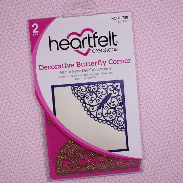 Heartfelt Creations, Decorative Butterfly Corner Die - Scrapbooking Fairies