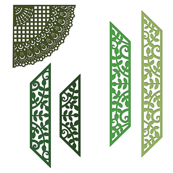 Heartfelt Creations Stamp /& Die Combo  LEAFY ACCENTS Greenery Vines 7193 3835