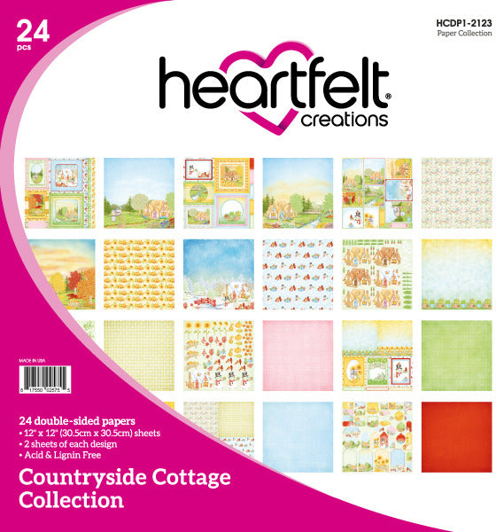 "Heartfelt Creations Double-Sided Paper Pad 12""X12"" 24/Pkg, Countryside Cottage (FREE Exclusive Online Class)"