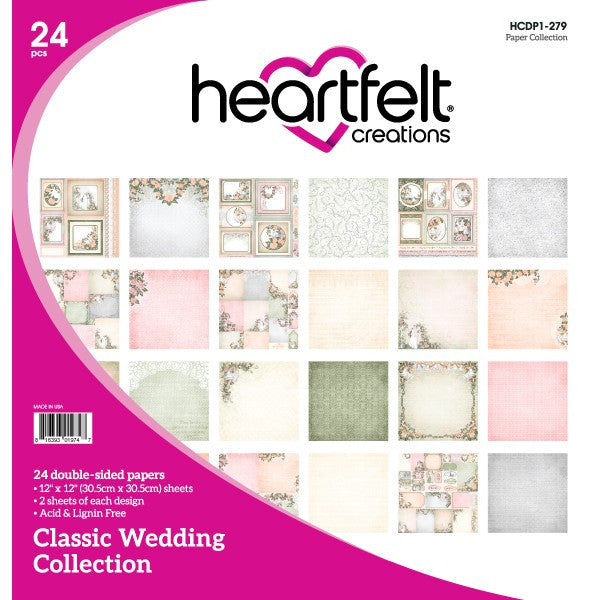 Heartfelt Creations, Classic Wedding Paper Collection