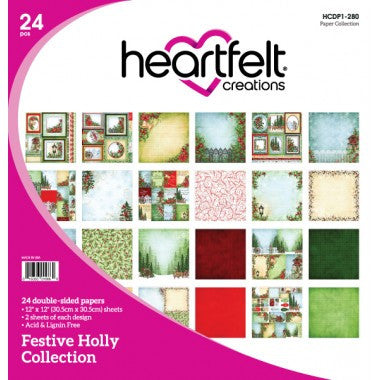 Heartfelt Creations, Festive Holly Paper Collection - Scrapbooking Fairies