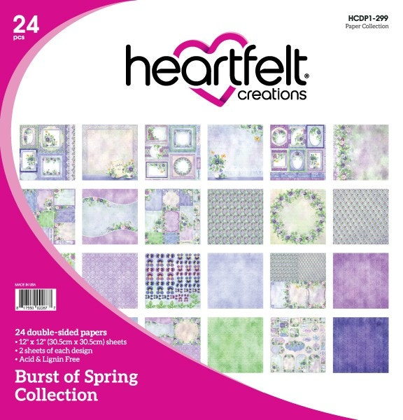"Heartfelt Creations Double-Sided Paper Pad 12""X12"" 24/Pkg, Burst Of Spring"
