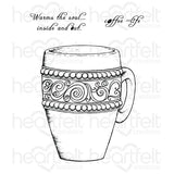 Heartfelt Creations, Coffee Mug Cling Stamp Set