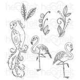Heartfelt Creations, Tropical Paradise Cling Stamp Set - Scrapbooking Fairies