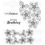 Heartfelt Creations, Small Classic Petunia Cling Stamp Set - Scrapbooking Fairies