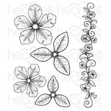 Heartfelt Creations, Large Classic Petunia Cling Stamp Set - Scrapbooking Fairies