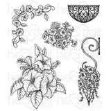 Heartfelt Creations, Classic Petunia Bouquet Cling Stamp Set - Scrapbooking Fairies