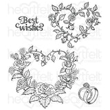 Heartfelt Creations, Classic Wedding Roses Cling Stamp Set