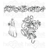Heartfelt Creations, Classic Wedding Bells Cling Stamp Set - Scrapbooking Fairies