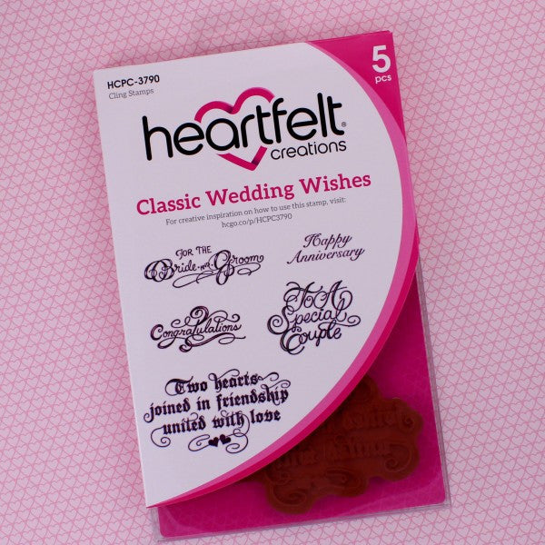 Heartfelt Creations, Classic Wedding Wishes Cling Stamp Set - Scrapbooking Fairies