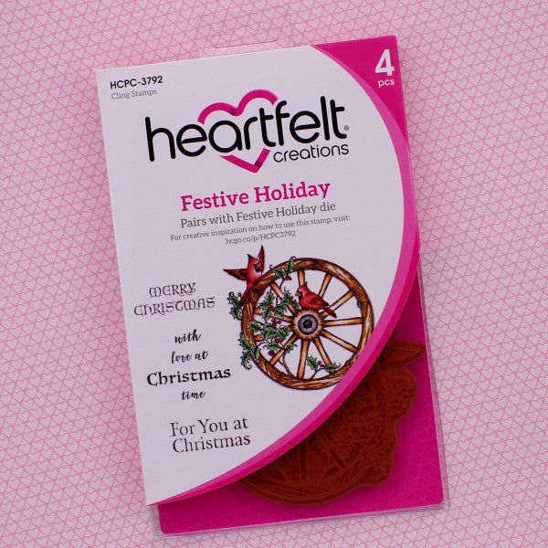Heartfelt Creations, Festive Holiday Cling Stamp Set - Scrapbooking Fairies